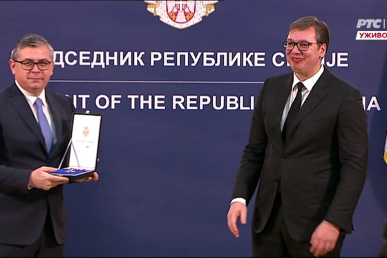 Decorations awarded on the occasion of the Statehood Day of the Republic of Serbia for meritorious service in the field of defence and security - BIA's Operations Department